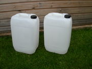 25ltr White Plastic Containers