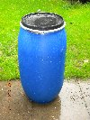 150ltr Blue Barrels for collecting Rain Water or Storage