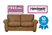 Mariana Medium 2/3 Seater Sofa - Brown Leather